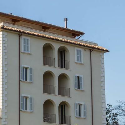 Restauro di palazzo ottocentesco presso Borgo Faiano ad Ascoli Piceno