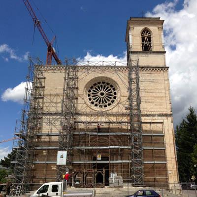 restauro e risanamento conservativo chiesa san silvestro l'aquila