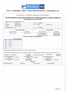 certificazione SOA edilizia impresa gaspari