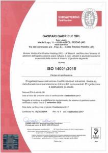 GASPARI GABRIELE S.R.L - ISO 14001 hq