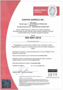 GASPARI GABRIELE S.R.L - ISO 9001-2015