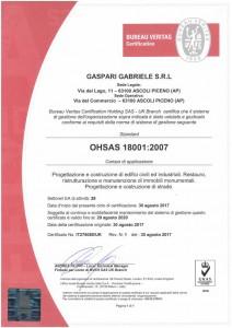 GASPARI GABRIELE S.R.L - OHSAS 18001