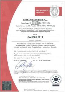 GASPARI GABRIELE S.R.L - SA 8000